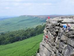 Stanage Edge climbing