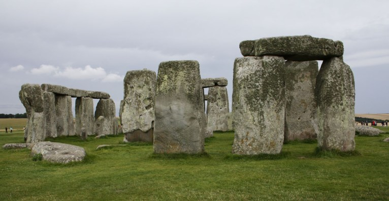 The nearest point we can get to the stones at Stonehenge.