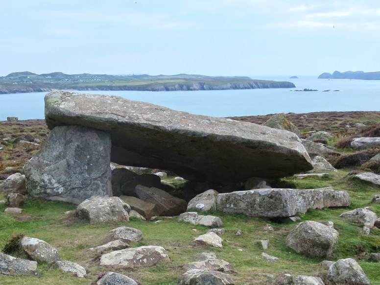 Coetan Arthur 6000 year old neolithic burial chamber at St Davids.