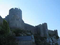 The imposing Pembroke Castle