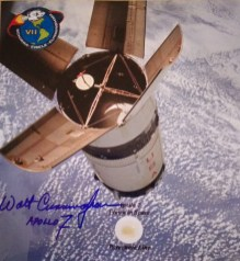 Flown in space and signed by Apollo 7 astronaut Walt Cunningham