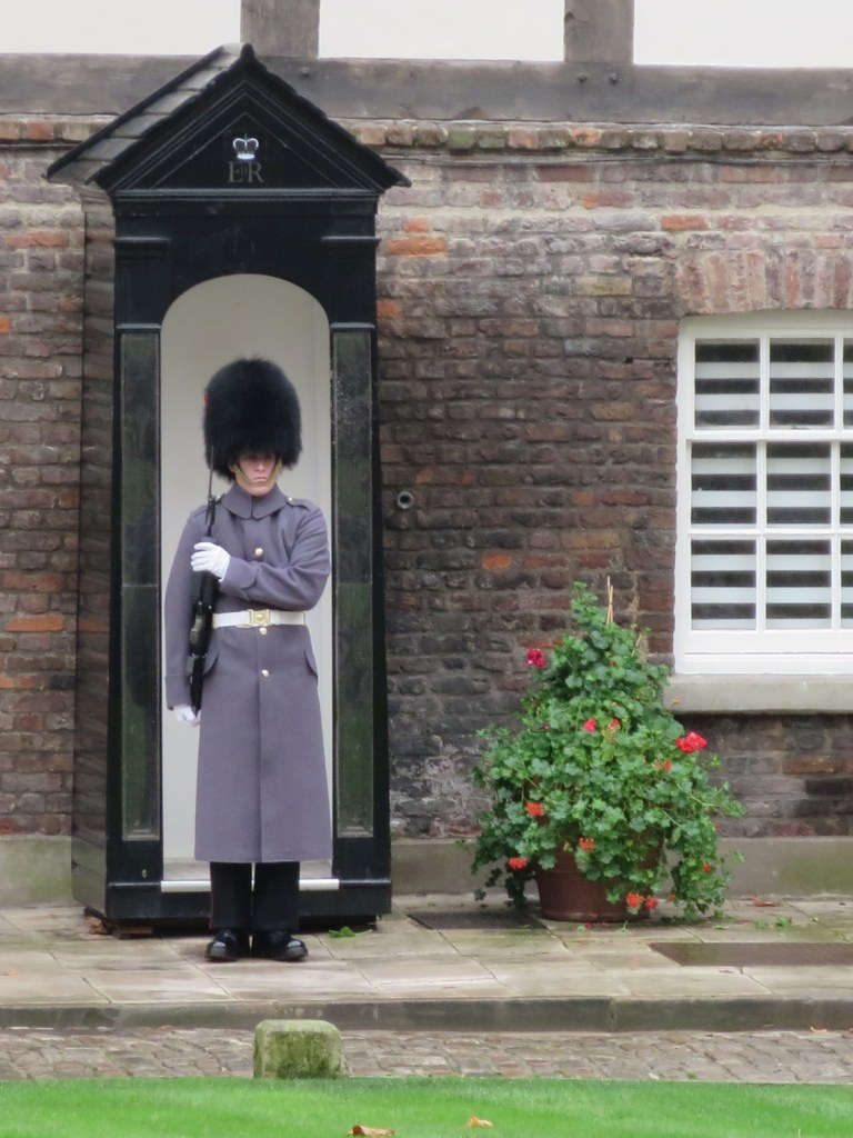 On guard outside the Queens' House at the Tower of London