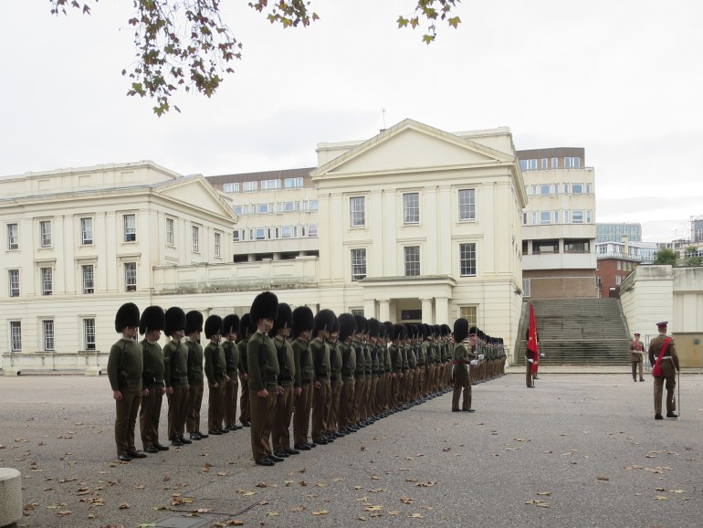 Guards practicing