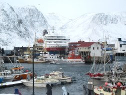 In port at Honningsvag