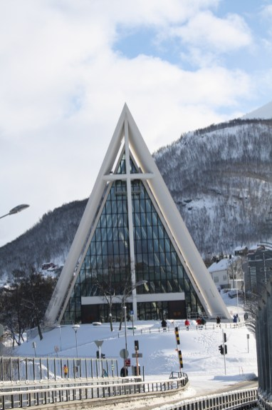 The Arctic Cathedral at Tromso, Norway.