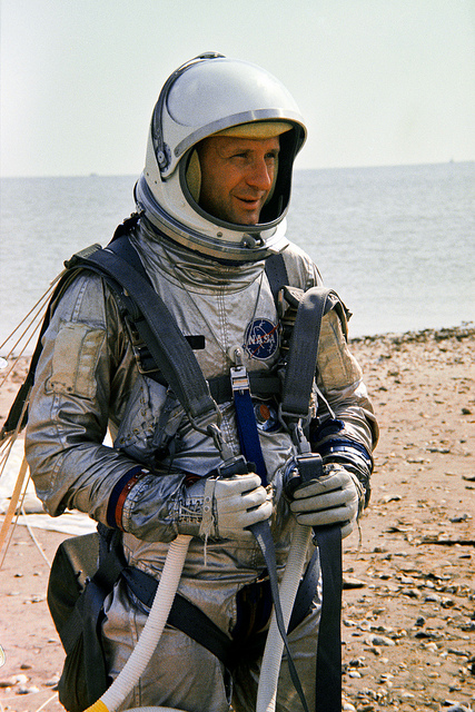 Astronaut Thomas P. Stafford during Gemini 6 training