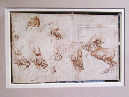 Expressions of fury in horses, a lion and a man c.1503-4