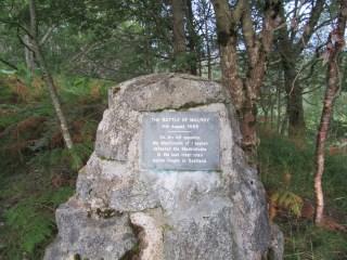 Battle of Mulroy memorial cairn
