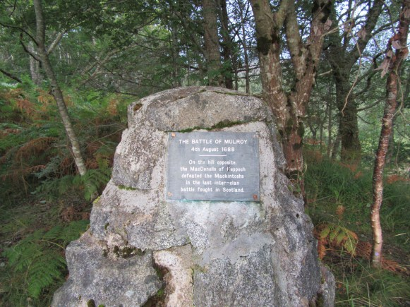 Battle of Mulroy memorial cairn