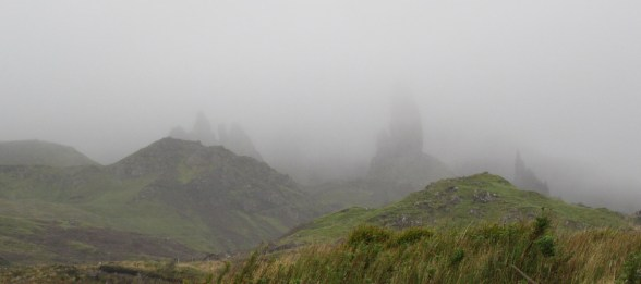 This is our best crack at the Old Man of Storr. Quite underwhelming isn't it...