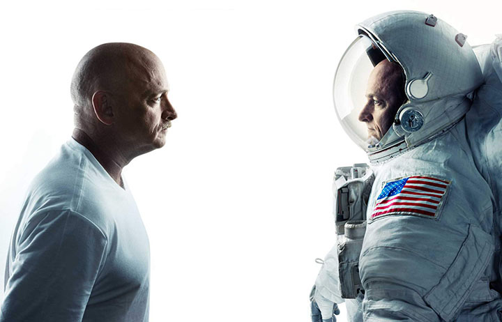 Twin astronauts Mark and Scott Kelly