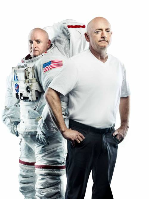 Twin astronauts Scott and Mark Kelly