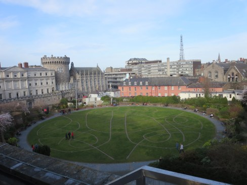 Dublin Castle Gardens from Chester Beatty Library roof garden