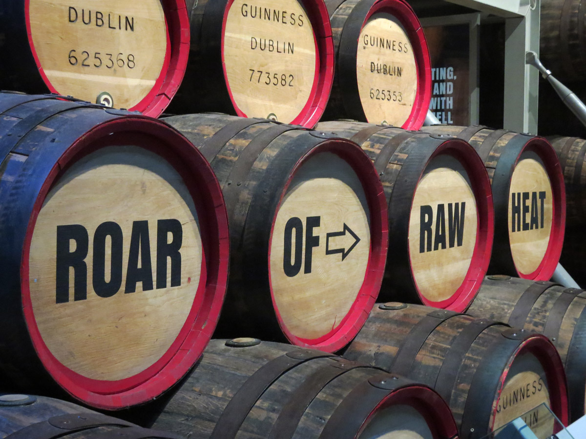 A visit to the Guinness Storehouse in Dublin