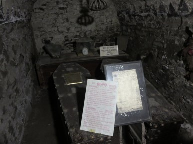 Sheares brothers coffins at St Michans' Crypt