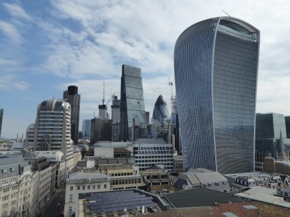 The Gherkin and Walkie Talkie building from the Monument