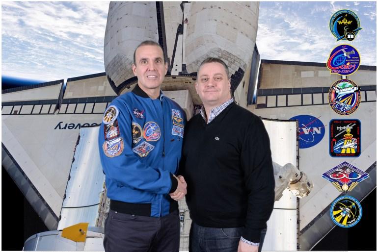 Astronaut Rick Mastracchio and Nicholas Cook