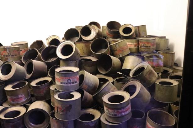 Zyklon B canisters found at Auschwitz