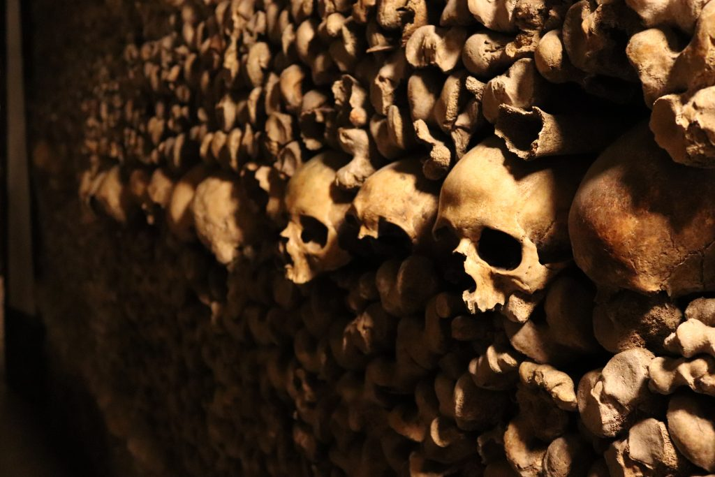 Skulls at Paris Catacombs