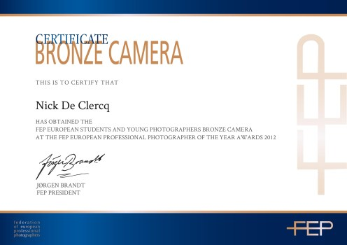 FEP Bronze Camera Award