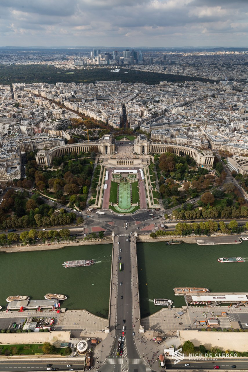 Trocadero seen from the Eiffel tower - Paris, France