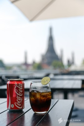 Coca-Cola with a view of Wat Arun