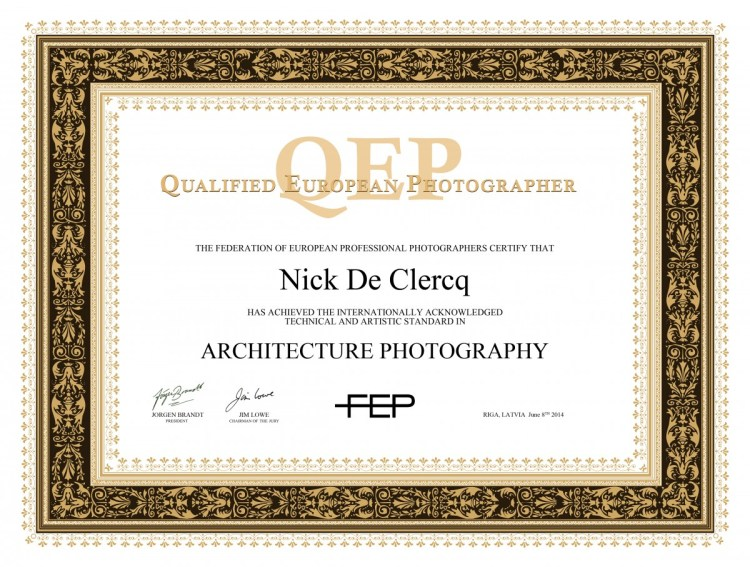 QEP Certificate Nick De Clercq