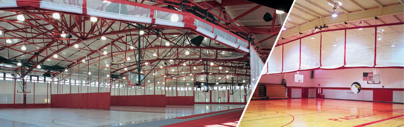 athletics gym divider curtains