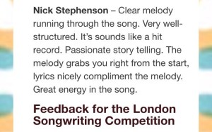 Nick Stephenson Feedback