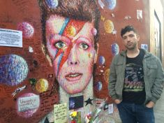 Nick Stephenson and David Bowie Mural