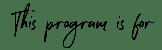 program-for
