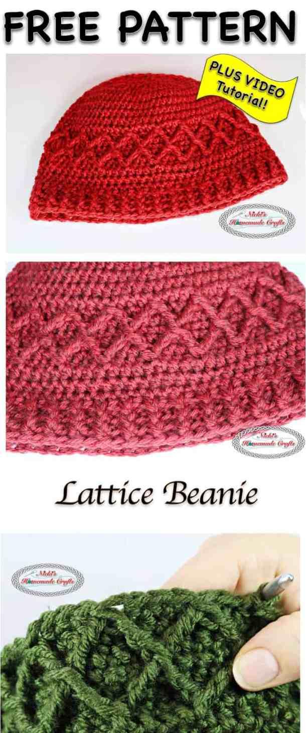 Lattice Beanie - Free Crochet Pattern