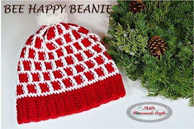 Bee Happy Beanie – Free Crochet Pattern