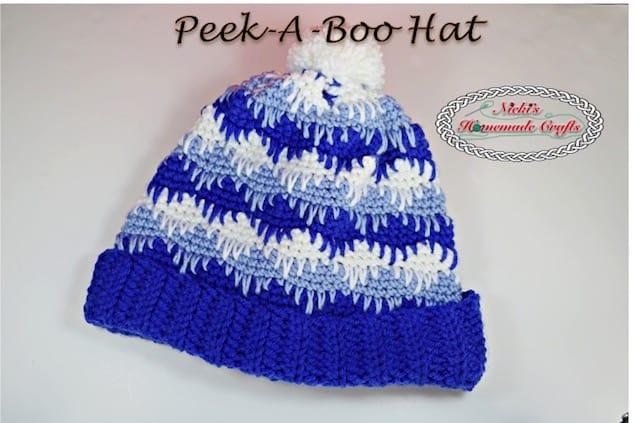 Peek-A-Boo Hat – Free Crochet Pattern