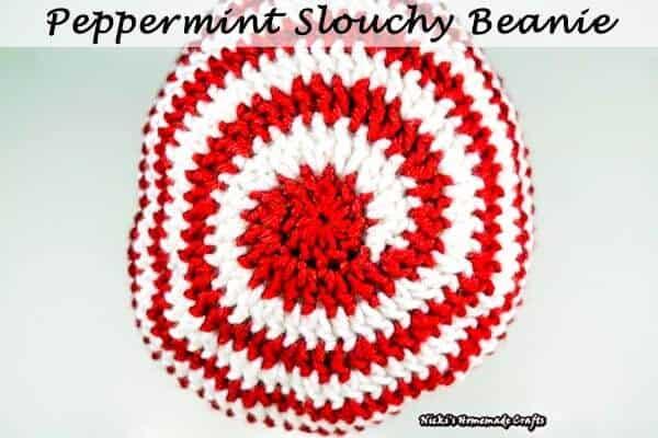 Peppermint Slouchy Beanie - Free Crochet Pattern