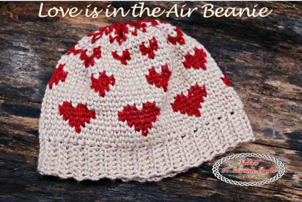Love is in the Air Beanie - Free Crochet Pattern by Nicki's Homemade Crafts