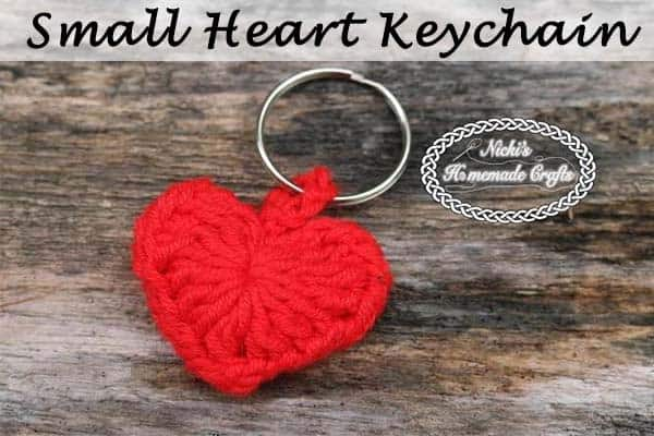 Small Heart Keychain Free Crochet Pattern Nickis Homemade Crafts