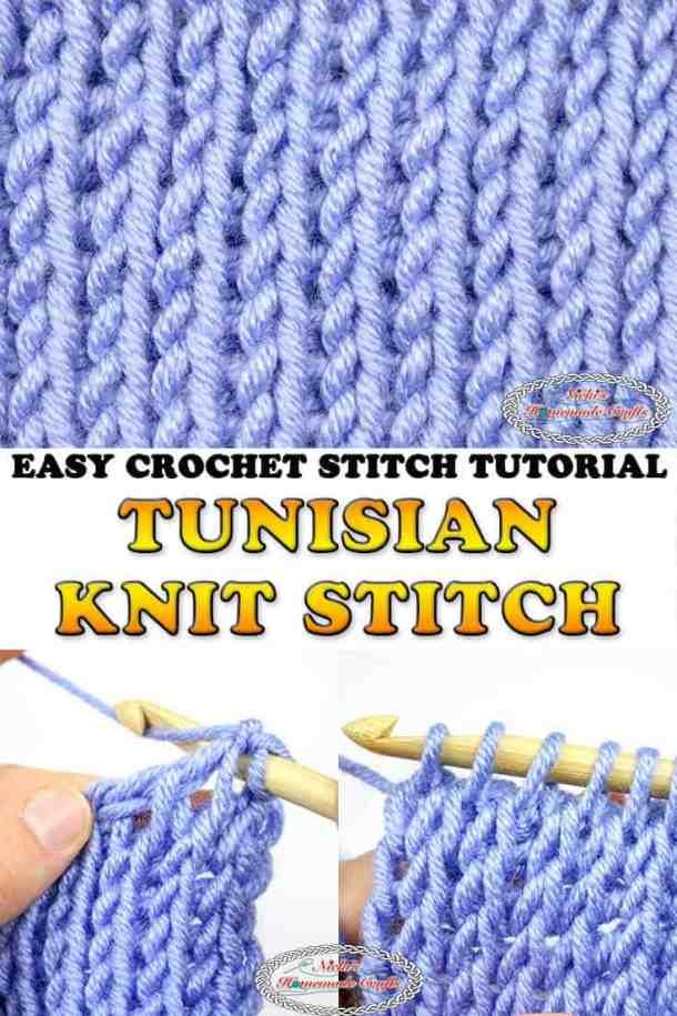 Tunisian Knit Stitch - Crochet Tutorial