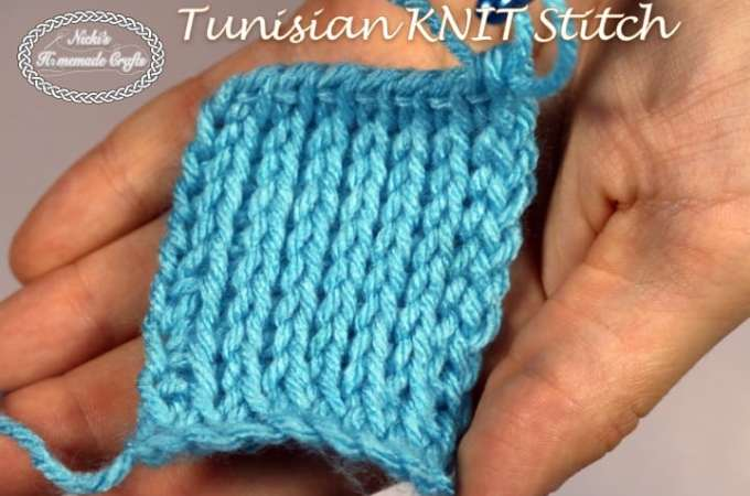 Tutorial: Tunisian KNIT Stitch – Crochet Stitch Tutorial
