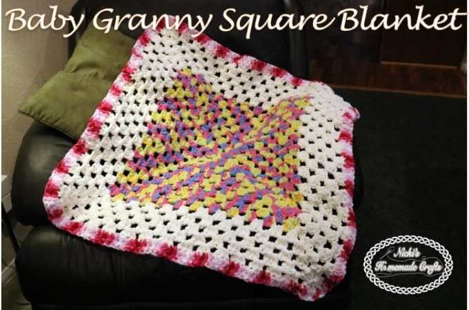 Baby Granny Square Blanket – Free Crochet Pattern