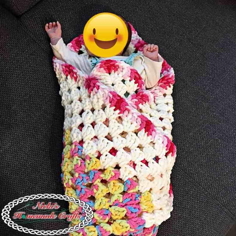 Baby Granny Square Blanket - Free Crochet Pattern - Nicki -3916