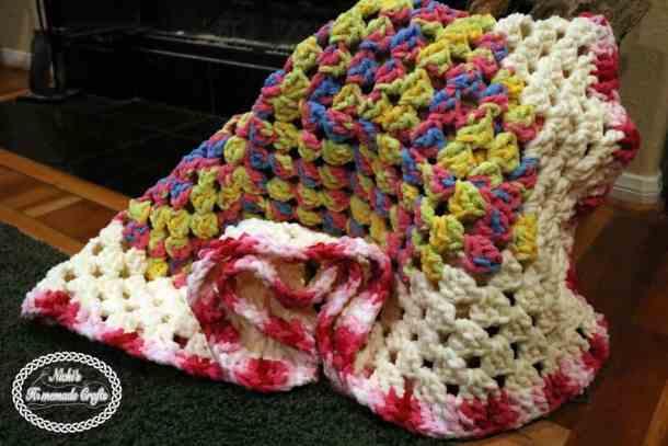Baby Granny Square Blanket - Free Crochet Pattern - Nicki -9380