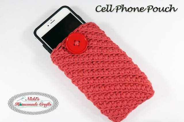 Cell Phone Pouch – Free Crochet Pattern