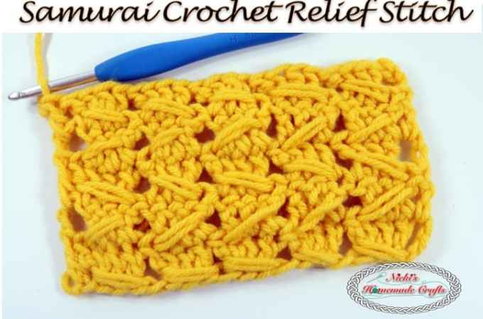 Tutorial: Samurai Crochet Relief Stitch