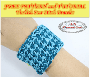 Turkish Star Stitch Bracelet – Free Pattern