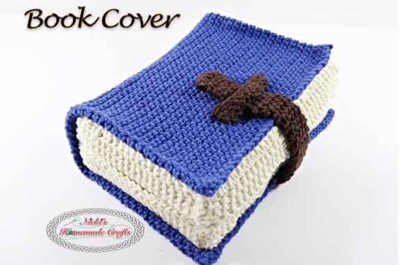 .Book Cover TITLE Free Crochet Pattern Nicki's Homemade Crafts~imageoptim
