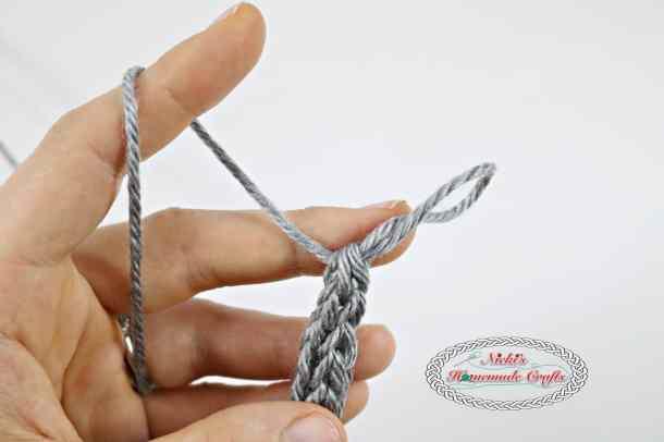 Sew up I-cord