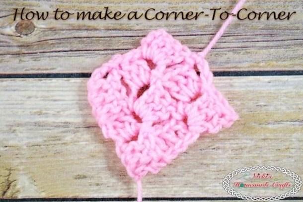 How To Do The Corner To Corner Aka C2c Crochet Tutorial Nickis