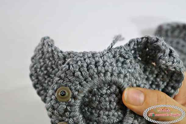 Elephant Hair Tie for a Ponytail for Girls - Free Crochet Pattern