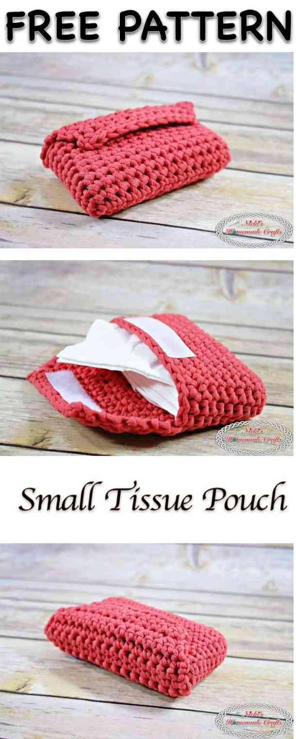 Small Tissue Pouch - Free Crochet Pattern by Nicki's Homemade Crafts